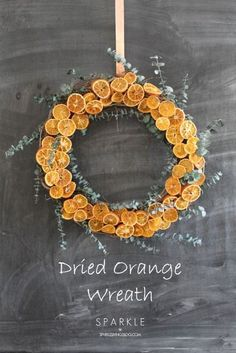 DIY dried orange slices and make a colorful wreath. An easy and inexpensive tutorial that adds a ton of color to a room!