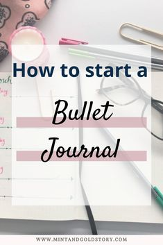 A short and simple guide to starting your bullet journal journey, plus keys to making the system that works for you! Read on to find out how to start a bullet journal in 3 simple steps! Down Quotes, Bullet Journal How To Start A, Cute Notebooks, Mint Gold, Write It Down, Start Writing, Pen And Paper, Journal Ideas, Productivity
