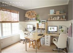 Family friendly home office.