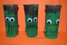 halloween crafts with toilet paper rolls | Food, Family, Fun.: Frankenstein Toilet Paper Roll Craft