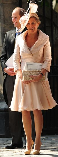 Sophie, Countess of Wessex at Zara Phillips Wedding; 40 looks damn good on her!