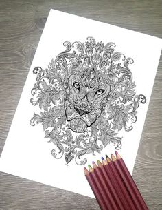b2087bed9 Printable Coloring Page JPG - Adult Colouring Page, Instant Download only,  Art Printable illustratio