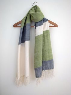Cashmere Cotton Merino Silk shawl Scarf Wrap by Handarbete on Etsy, $160.00