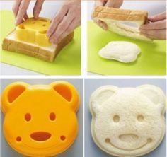 2014 new Cooking Tools Bear sandwich mould toast bread mould sandwich lunch box diy rice balls cake tools kitchen accessories on Aliexpress.com | Alibaba Group