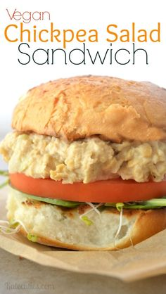 Vegan Chickpea Salad Sandwich Recipe at Kalecuties.com