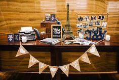 Navy and White Parisien Garden Wedding at Grand Hyatt Singapore decor Parisian Wedding Theme, Wedding Themes, Chic Wedding, Rustic Wedding, Wedding Ideas, Head Table Wedding Decorations, Wedding Table, Wedding Reception, Grand Hyatt