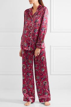 482c318efb5f Olivia von Halle - Lila Yasmine printed silk-satin pajama set
