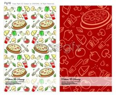 Cute backgrounds vector vegetable pizza fast food