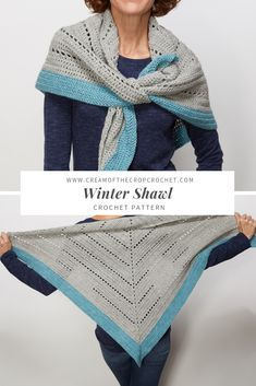 FREE CROCHET PATTERN - Winter Shawl  If youve ever wanted to learn how to  crochet a triangle this shawl crochet pattern is perfect for you. b3ffa9eb20c