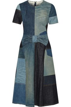 Junya Watanabe | Patchwork denim dress | NET-A-PORTER.COM