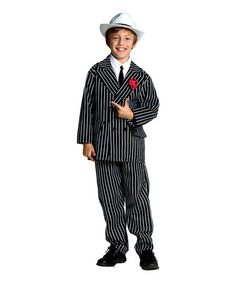 Look at this Black & White Stripe Gangster Dress-Up Set - Kids by RG Costumes Dress Up Outfits, Dress Up Costumes, Adult Costumes, Pirate Costumes, Dresses, Cool Sweaters, Ugly Sweater, Sweater Hoodie, Gangster Suit