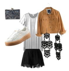 """""""Suede and silver"""" by francisca-cienfuegos on Polyvore featuring moda, Monki, Madewell, Puma, Betsey Johnson, KOTUR, Twin-Set, women's clothing, women y female"""