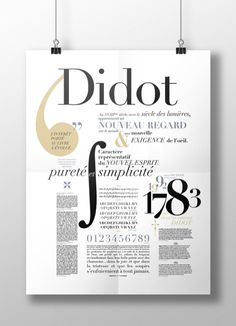 Shona Nozolino, Gabrielle Coze, the Didot on Inspirationde Typo Poster, Poster Fonts, Typography Poster Design, Typographic Poster, Typographic Design, Typography Letters, Lettering, Typo Design, Web Design