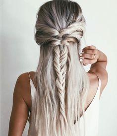 Beautiful fish tail braid