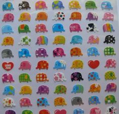 Hey, I found this really awesome Etsy listing at http://www.etsy.com/listing/103938976/japan-kawaii-tiny-elephant-sticker-sheet