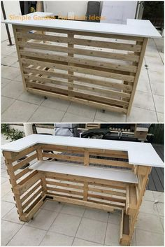 pallet ideas Are you ready to surprise everyone at your home with the heart-winning designing of an ideal pallet wooden counter? This is one of the latest wooden counter design that you c