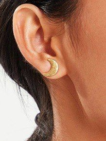 9ct Gold Earrings Studs With Scrolls Fittings Swirl Star Flower Design New
