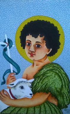 Telas artesanais de tecido estampado,patch pintura,inspirado na fé e nos festejos populares