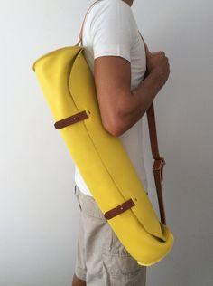 Yoga bag. Leather yoga bag from Proyect54 by DaWanda.com