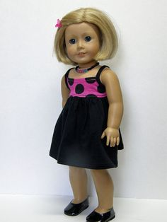 American Girl doll - dress and necklace - 18 inch doll clothes