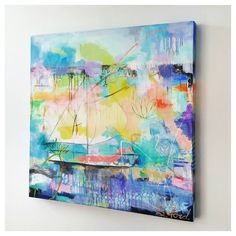 Surface 36 x 36 oil painting on canvas. This is one of my favorite peaceful paintings. It makes me want to get on a boat (minus the sea sickness) and watch the sunset.  This piece is available on my website http://ift.tt/1JnJL2P  #sailaway #boat #contemporaryart #ocean #oilpainting #modernart #kclocal #plazaartfair