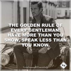 Golden Rule     www.gentlemans-essentials.com