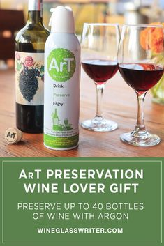 Keep your wine fresh with pure Argon - simply spray a 2-second dose, then reinsert the cork or a stopper into an open bottle. #winepreservation #preservewine #wine #winegift #openedwine #argon Gifts For Wine Lovers, Wine Gifts, Push Away, Food Grade, Preserves, Entertaining, Pure Products, Canning, Drinks