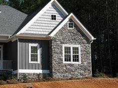 about siding with stone panels and board and batten - Yahoo Image Search Results