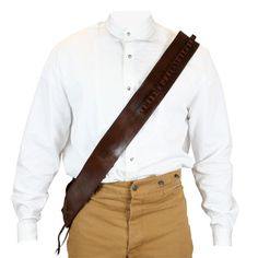 (.44/.45 cal) Bandolier - Brown Leather