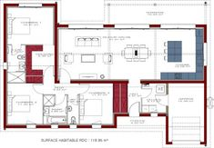 Nice Plan Maison Igc Gaia that you must know, You?re in good company if you?re looking for Plan Maison Igc Gaia Cool Apartments, Exterior House Colors, Prefab Homes, Small House Plans, Architecture Plan, Architect Design, Planer, Home Remodeling, Floor Plans