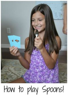 Family Card Games: How to Play Spoons. This looks like a fun game that my little ones will be able to play!