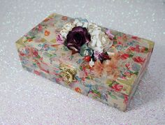 Floral Jewelry Box Wooden Jewelry Box by ForeverYoursHandmade