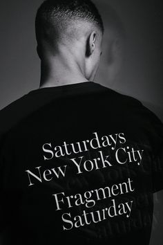 An Official Look at the Saturdays NYC & fragment design Capsule: A six-piece collection spanning apparel, candles, and more. Saturdays Surf, Surf Accessories, Costume Collection, Print Logo, Shirt Designs, Street Style, Man Shop, T Shirt, Clothes