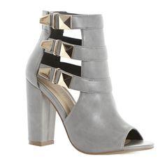 greySavida Buckle Peep-Toe Boot