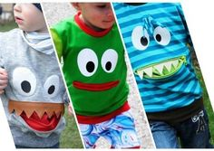 Schnittmuster Kindershirt (Monstershirt) Gr. 74 bis 146 bei Makerist