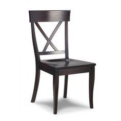 X Back Chair Dark mahogany on maple
