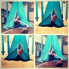 Arial Silks, Aerial Yoga, Stretching, Ariel, Hammock, Outdoor Gear, Gym, Poses, Workout