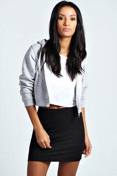 Maisy Basic Bodycon Mini Skirt at boohoo.com