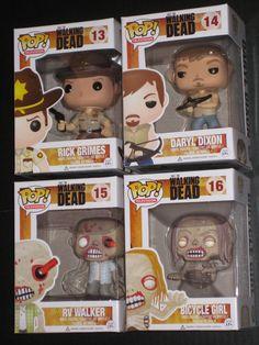 The Walking Dead Pop Vinyl Figure Set Rick Grimes Daryl Dixon 2X Zombies Funko | eBay
