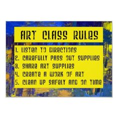 ART CLASS RULES POSTER by collguedes