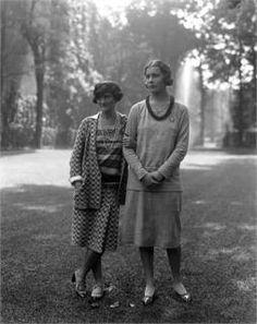 Coco Chanel and Lady Abdy 1929.  Parigi, France, 1929