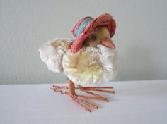 Vintage Chenille Easter Chick