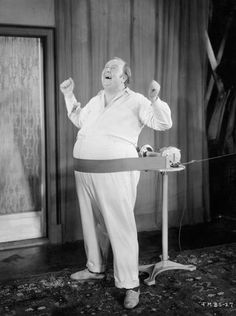"Inspiration to help you keep your resolution to get in shape: a slideshow of historical photographs of physical activity: http://nyr.kr/TP2eQs (This photo: The ""musical beauty shop"": a portly gentleman sings as his belly is mechanically massaged. Bettmann/Corbis.)"