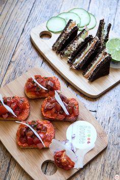 mini-bouchées Bruschetta Tomates Fraiches et Confites
