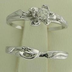 GENUINE Diamond Floral Design Engagement Ring Set Sizes 3-10 from NYJewelz.com for $139.00 on Square Market
