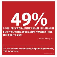 Autism Plus Wandering >> 33 Best Autism Wandering Safety Images Autistic Children Asd