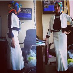 simple white and black for officer woman...