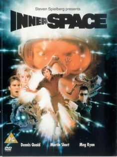 """Innerspace (1987) -- """"A hapless store clerk must foil criminals to save the life of the man who, miniaturized in a secret experiment, was accidentally injected into him."""" This movie is ridiculous, but it's loads of fun."""