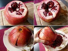 Sahnevanillequark mit Granatapfel (& wie man diesen richtig entkernt)