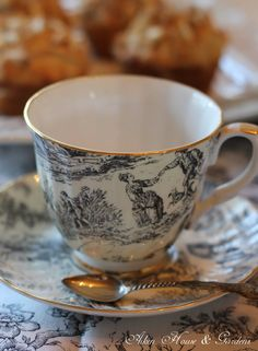 Toile tea cup - I have this one in my collection.
